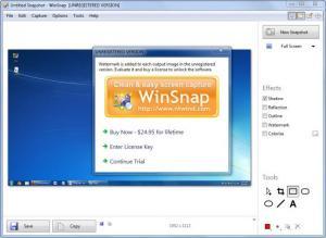 Enlarge WinSnap Screenshot