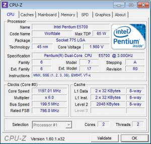 Enlarge CPU-Z Screenshot