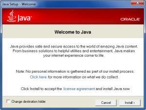 Enlarge Java Runtime Environment Screenshot