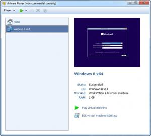 Enlarge VMware  Player Screenshot