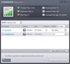 Enlarge Comodo  Firewall Screenshot