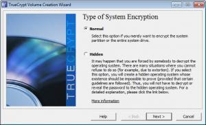 Enlarge TrueCrypt Screenshot