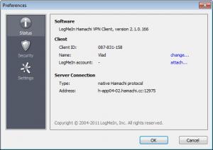 Enlarge Hamachi Screenshot