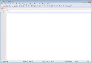 Enlarge Notepad++ Screenshot