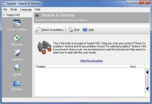 Enlarge Spybot - Search & Destroy Screenshot