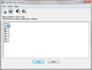 Enlarge ClamWin Free Antivirus Screenshot