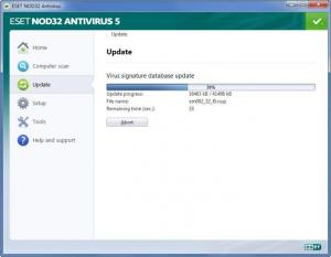 Enlarge ESET NOD32 Antivirus Screenshot