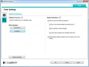 Enlarge Logitech SetPoint Screenshot