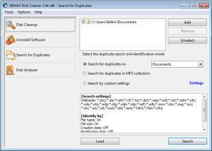 Enlarge SBMAV Disk Cleaner Screenshot