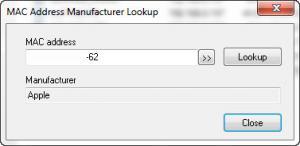 Enlarge Find  Mac Address Screenshot
