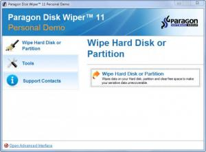 Enlarge Paragon Disk Wiper Screenshot