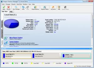 Enlarge Paragon Partition Manager Screenshot