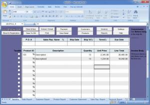 Enlarge Excel Invoice Manager Screenshot