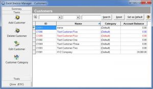 Enlarge Excel Invoice Manager Screenshot