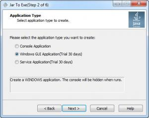 Enlarge Jar2Exe Screenshot