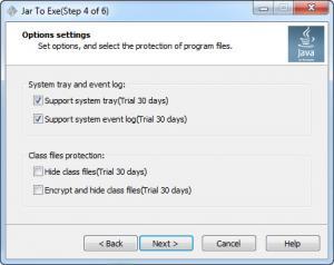 Enlarge Jar2Exe Screenshot