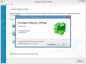 Enlarge Auslogics Registry Defrag Screenshot
