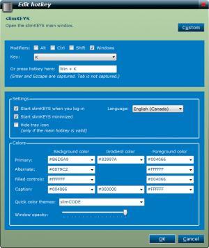 Enlarge slimKEYS Screenshot