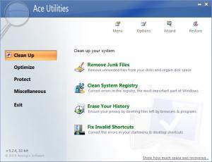 Enlarge Ace Utilities Screenshot