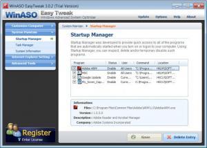 Enlarge WinASO  EasyTweak Screenshot
