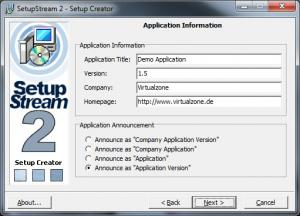 Enlarge SetupStream Screenshot