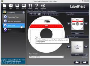 Enlarge CyberLink  LabelPrint Screenshot