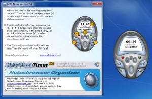 Enlarge MP3 Pizza  Timer Screenshot