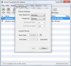 Enlarge Virtual  TimeClock Pro Screenshot
