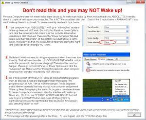 Enlarge Wake Up News Screenshot