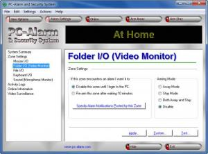 Enlarge PC-Alarm and Security System Screenshot