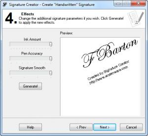 Enlarge Signature Creator Screenshot