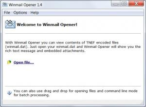 Enlarge Winmail Opener Screenshot