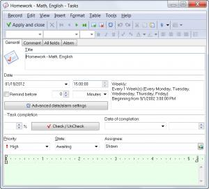 Enlarge WinOrganizer Screenshot