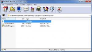 Enlarge WinRAR Screenshot