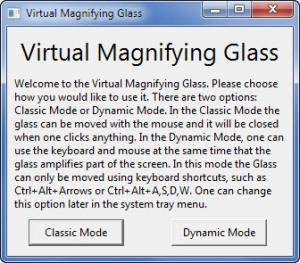 Enlarge Virtual Magnifying  Glass Screenshot