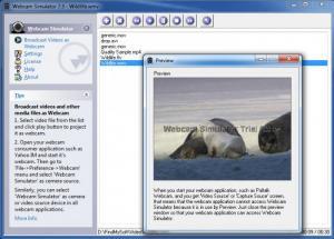 Enlarge Webcam Simulator Screenshot
