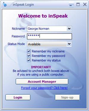 Enlarge inSpeak Communicator Screenshot