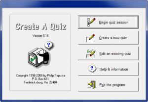 Enlarge Create A Quiz Screenshot