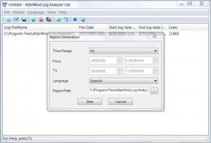 Enlarge AlterWind Log Analyzer  Lite Screenshot