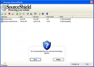 Enlarge SourceShield Screenshot