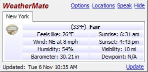 Enlarge WeatherMate Screenshot