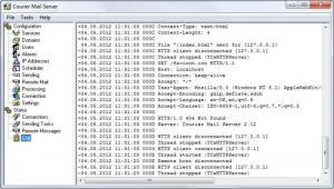 Enlarge Courier Mail Server Screenshot