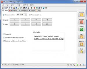 Enlarge Shutdown Manager and Tools Screenshot