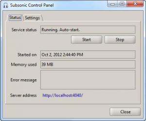 Enlarge Subsonic Screenshot