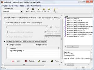 Enlarge Search Engine Builder  Standard Screenshot