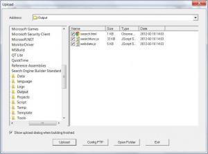 Enlarge Search Engine Builder  Standard Screenshot