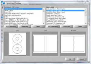 Enlarge AudioLabel CD/DVD Labeler Screenshot