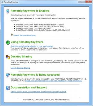 Enlarge RemotelyAnywhere Screenshot
