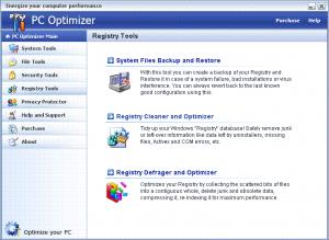 Enlarge PC  Optimizer Screenshot