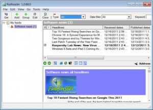 Enlarge RssReader Screenshot